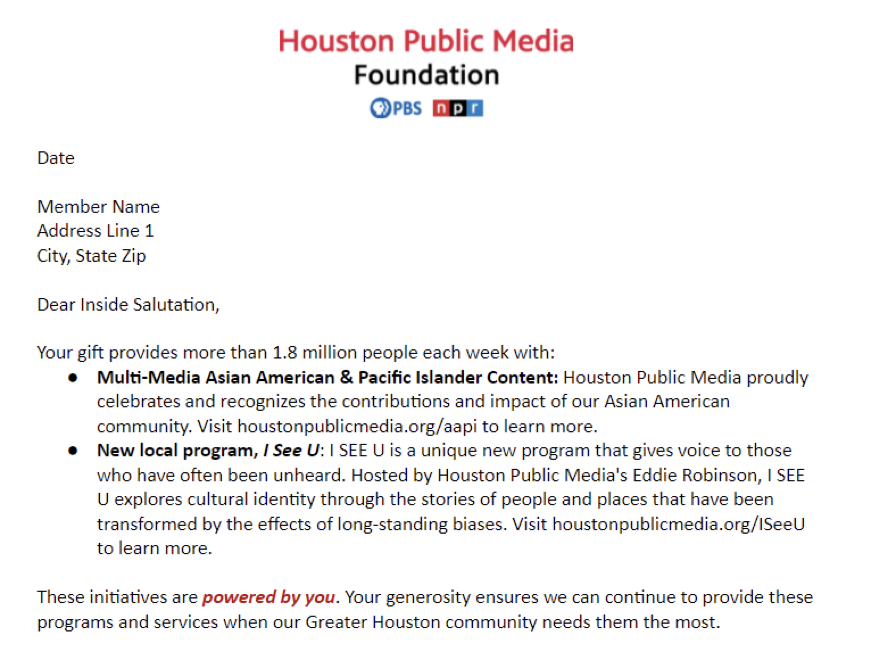 Houston mail