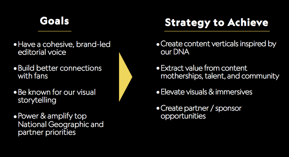 NatGeo goals and strategy