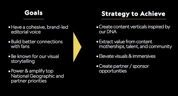 NatGeo goals and strategy