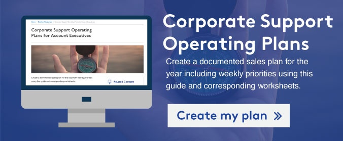 Create my operating plan for corporate support >>