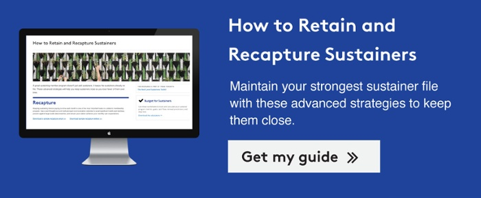 Learn how to retain and recapture sustainers with this guide >>